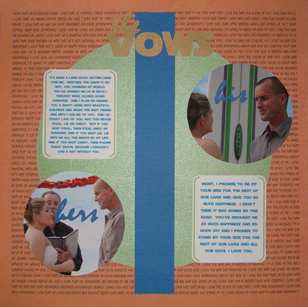Wedding Album- The Vows