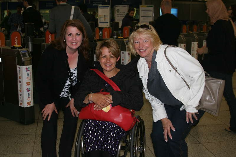 With Dame Tanni Grey-Thompson