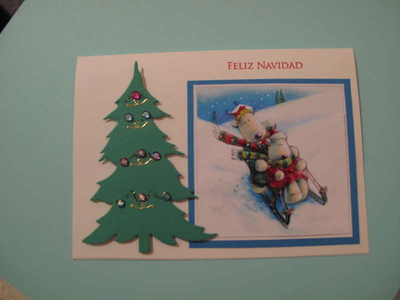 3D Christmas Card - Sledding