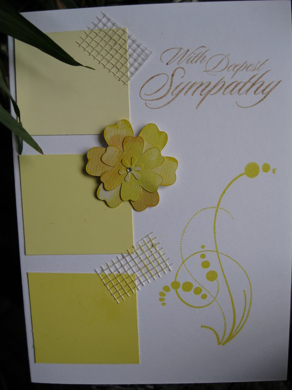 Yellow Sympathy Card