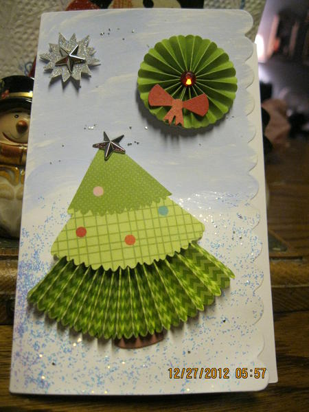 Daughter's first Hand-made card