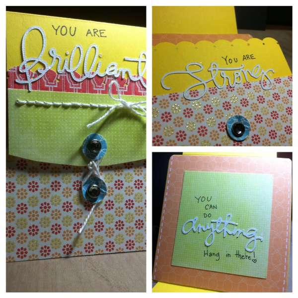 folded card no.3 - you are brilliant
