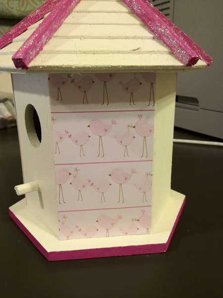 Baby Shower Birdhouse #4 (Side View)