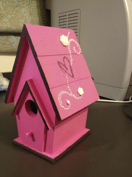 Baby Shower Birdhouse #1