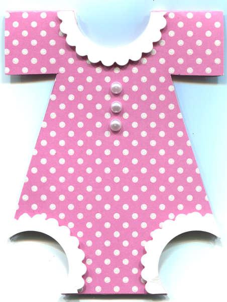 POLKA DOT BABY DRESS CARD