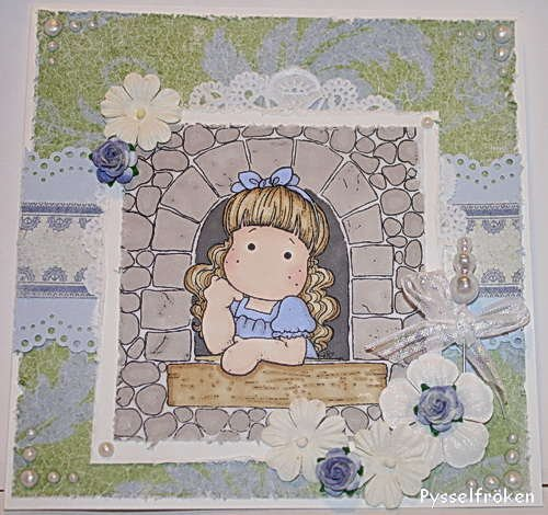 Card with Magnolia stamps
