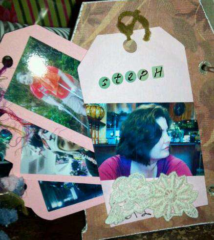 Dad's mini album - Stephanie's page