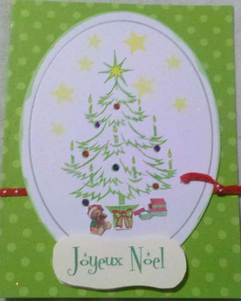 Christmas card - stamped. tree