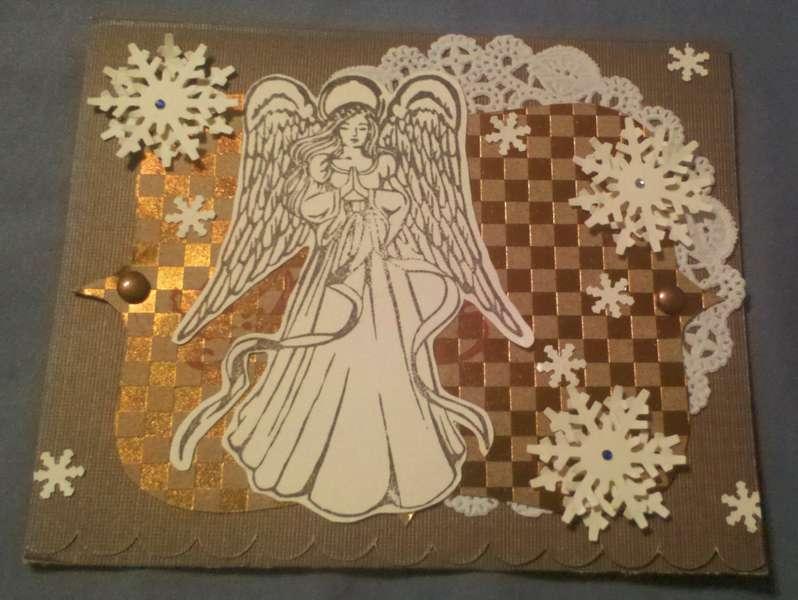 Angel Doily Christmas Card