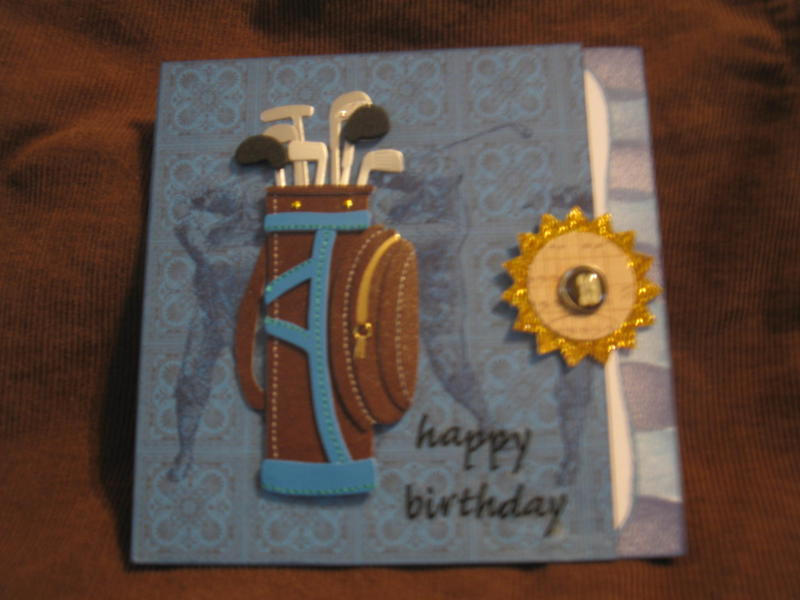 GOLF theme Birthday card - HAPPY BIRTHDAY