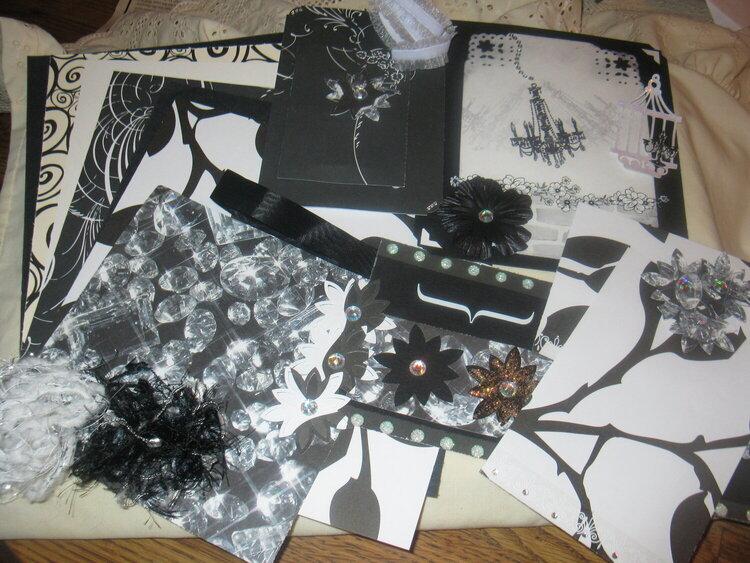 APRIL 8x8 KIT SWAP - BLACK, WHITE AND DIAMONDS