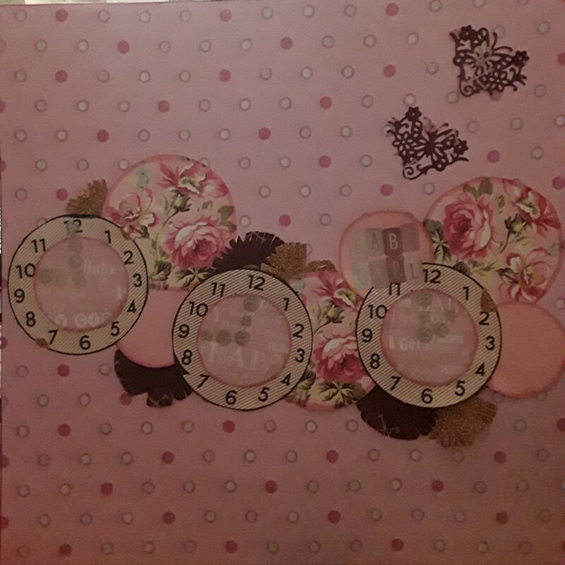 BABY GIRL - MAY UGLY PAPERS LAYOUT