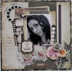 Take Risks -  A layout using Scraps of Darkness Feb. kit