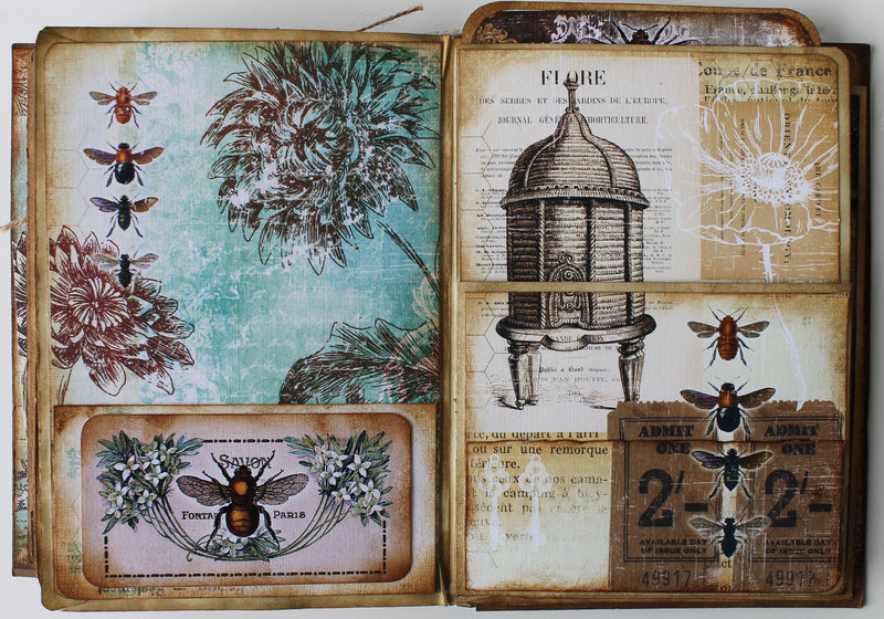 Bee Book for Ephemera's Vintage Garden