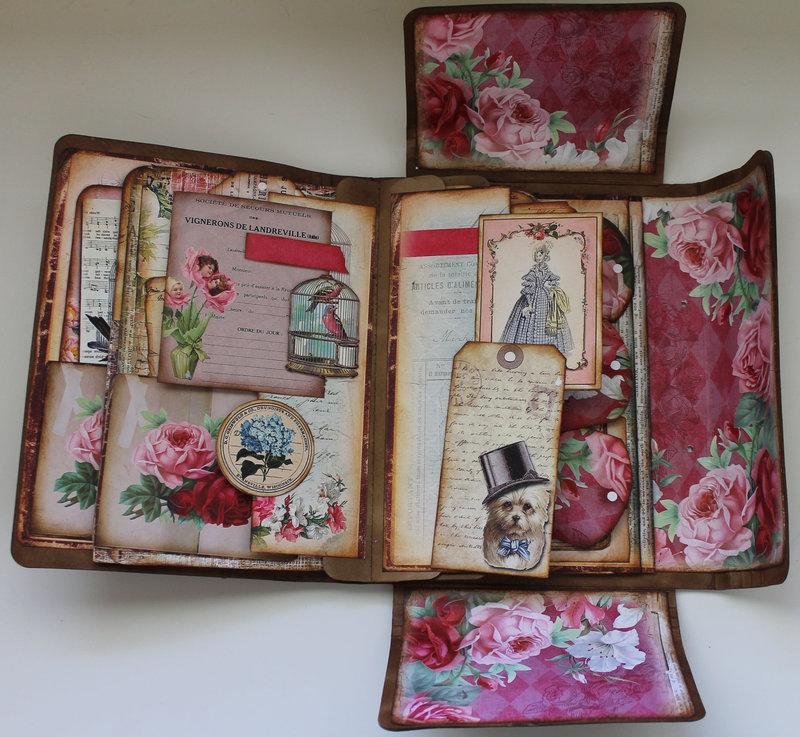 Paris Themed Folio for Ephemera's Vintage garden