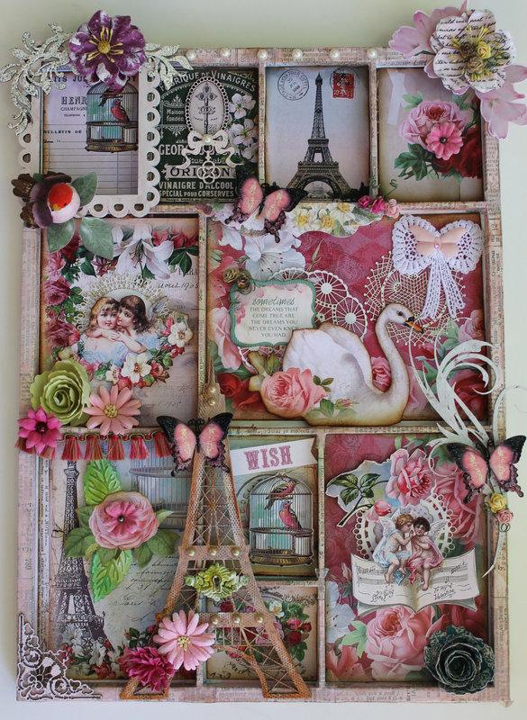 Memory Tray DT for Ephemera's Vintage garden