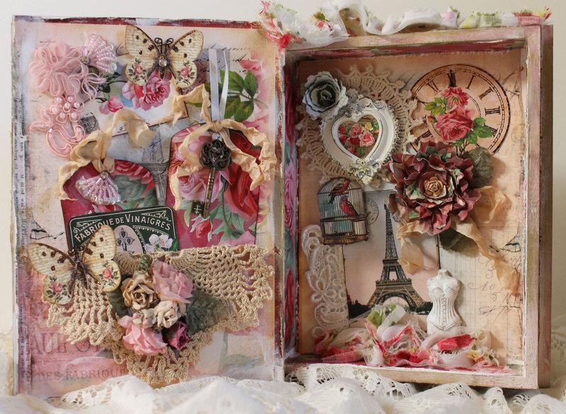 Shabby Book Box for Ephemera's Vintage Garden