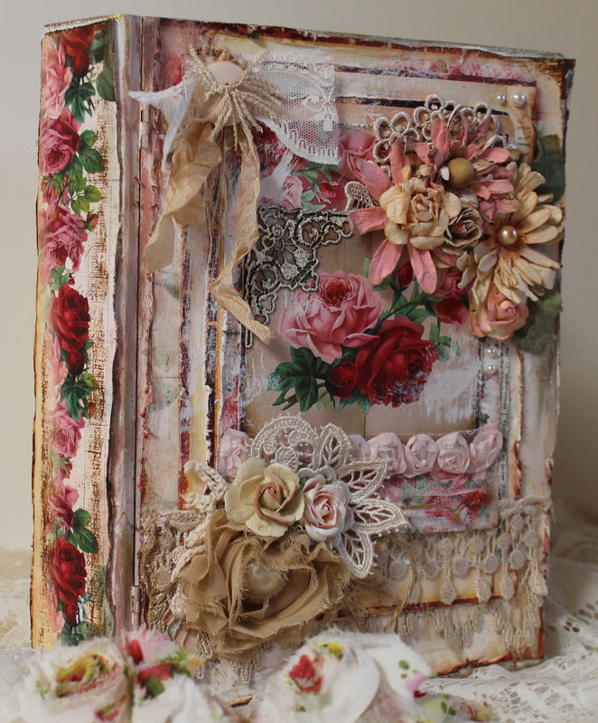 Shabby Book Box for Ephemera's Vintage Garden