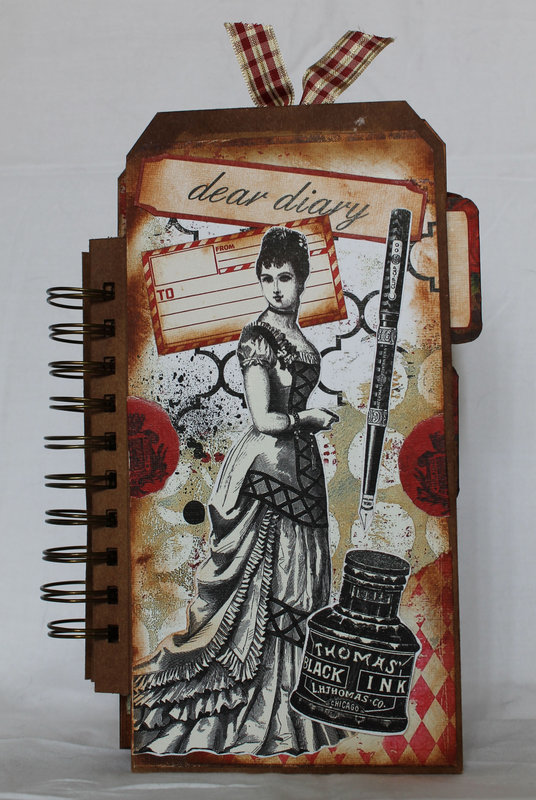 Journal from Large tags for Ephemera's Vintage Garden