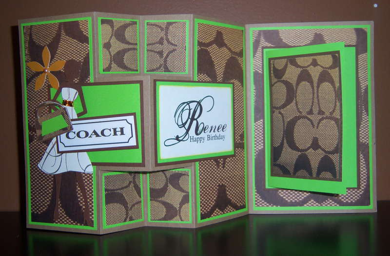 Kelly Green Purse Inspired Greetins Card