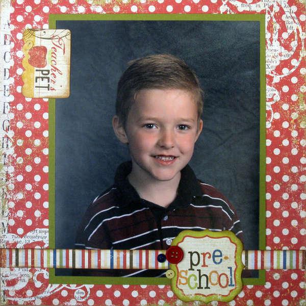 Simple Stories School Album - Pre-School Cover Page