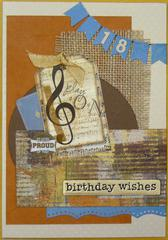 !8th birthday card for male