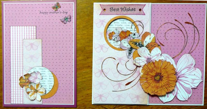 Cards using mainly Kaisercraft Tiger Lilly papers