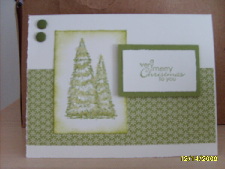 Simple but pretty Christmas Card