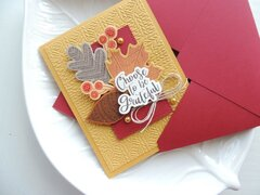 Choose To Be Grateful and Coordinating Envelope