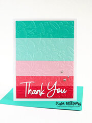 Embossed Stripes Thank You Card