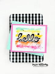 Hello Watercolor Rainbow Card