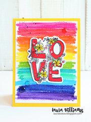 Love Squared Rainbow Valentine