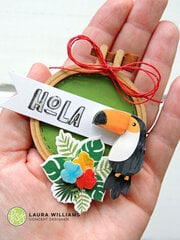 Hola Embroidery Hoop Card