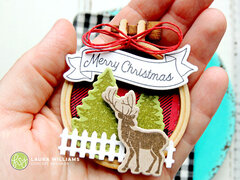 Merry Christmas Faux Embroidery Hoop