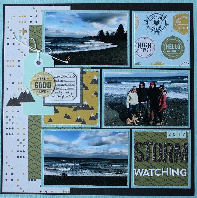 January Beach Storm Watching
