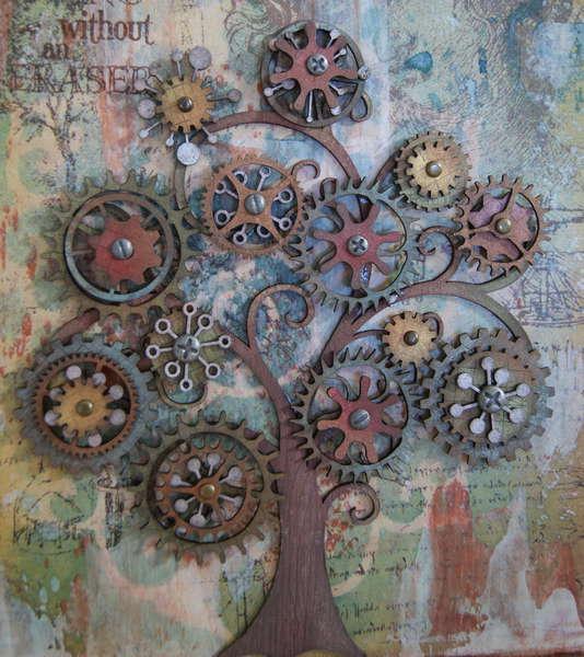 Cog Tree Canvas (close up)