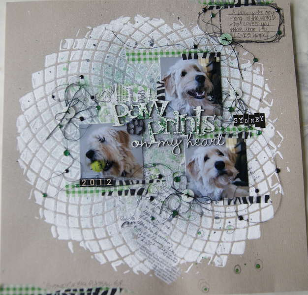 """""""Paw Prints on my Heart"""" for Scrap FX"""