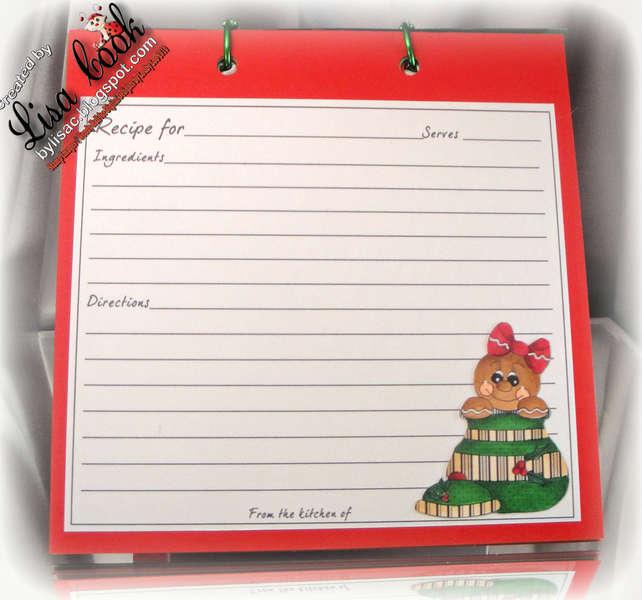 Gingerbread Recipe Book (recipe card)