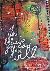 Graffiti Art Journal Page