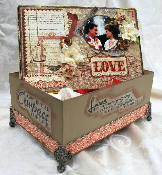 LOVE altered box **Scrapthat**