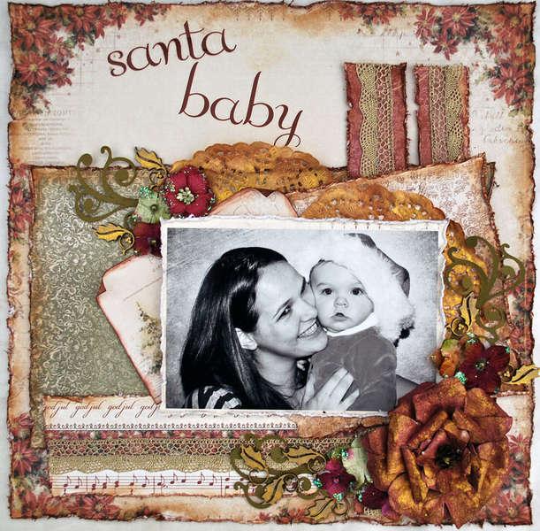 "SANTA BABY Scrap That! Pion Design ""Waiting for Santa"" Kit"