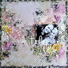 today - mixed media layout