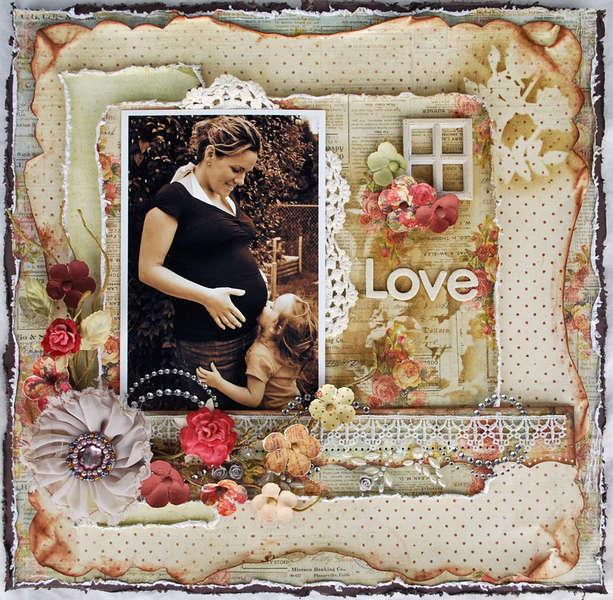 """love * Scrap That! October """"Bella Rosa"""" Kit featuring Prima Romantique*"""