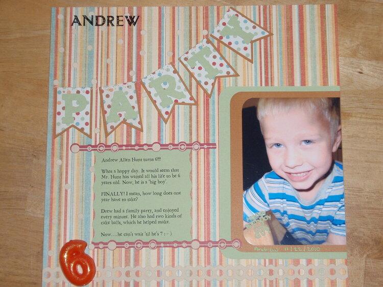 Andrew, 6th Birthday