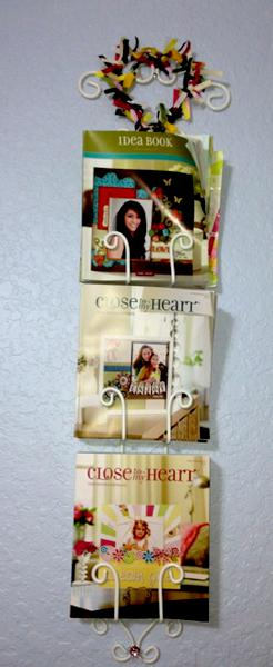 Plate holder becomes IdeaBook/catalog holder, added ribbon flare!