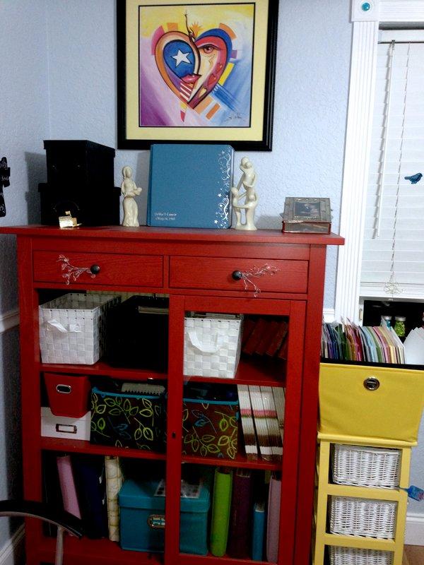 New art room; Ikea Linen chest