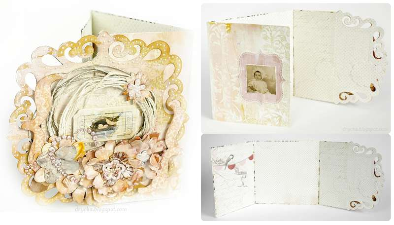 pastel card *Scraps of Darkness* July kit