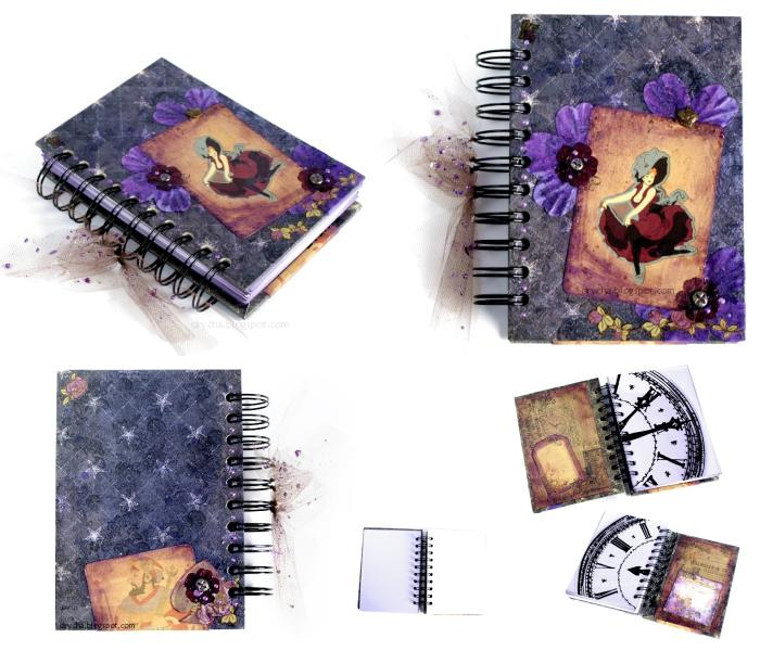 "notebook *Scraps of Darkness* Sept Kit ""My guy"""