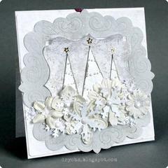 white'n'light grey xmas card