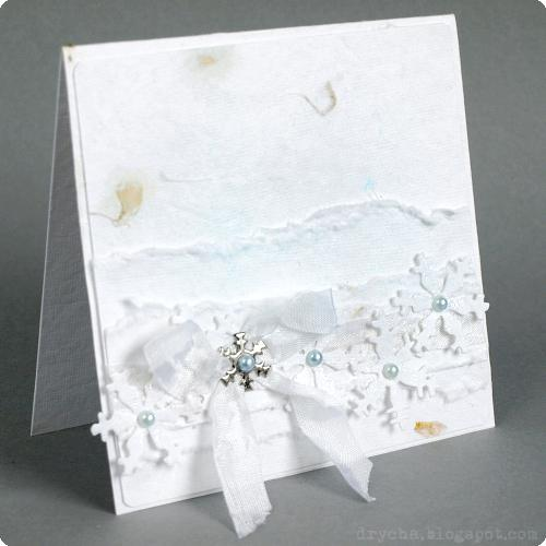 white xmas card